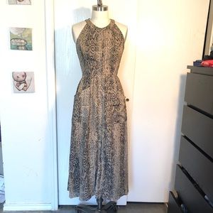 MM Couture by Miss Me maxi snakeskin dress sz M
